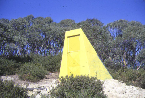 "This is the ""little Featherop hut"" designed and built by Robert Vincent. Unfortunately it was burnt in the 2003 fires."