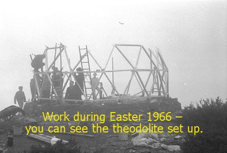 Work during Easter 1966 – you can see the theodolite set up.