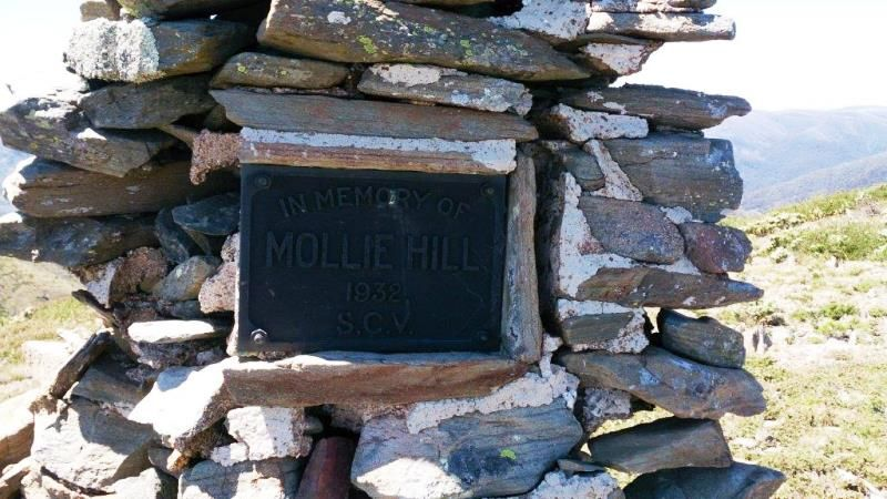 The plaque spells her name Mollie Hill but the gravestone in the Cheltenham Pioneer Cemetery has it as Molly Hill.  © Chris McLaughlin of  nevictoria.com . Used with permission
