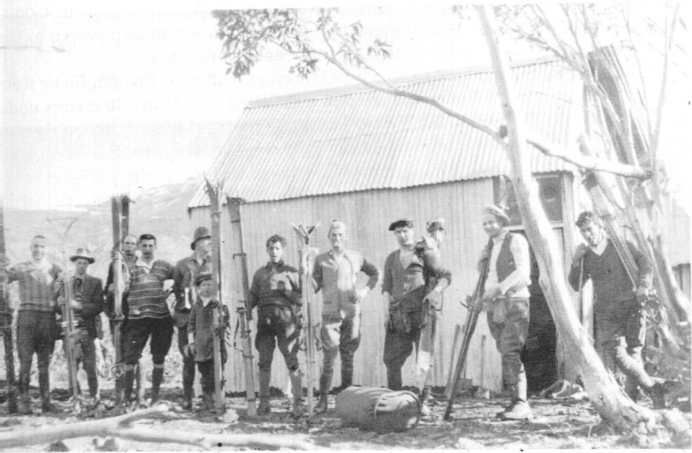 Mansfield Progress Association Hut on Burnt Hut Spur. 1925 - 1933.
