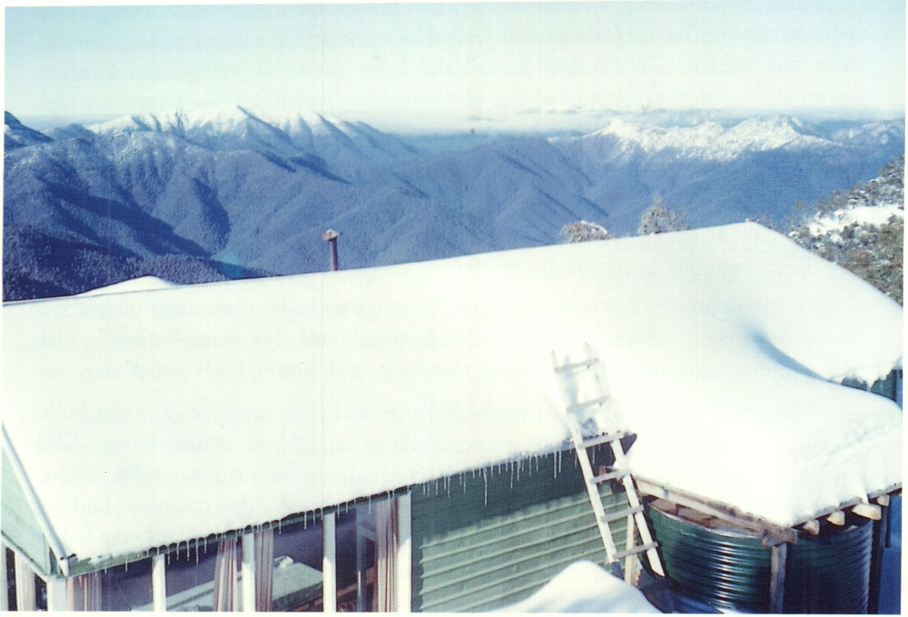 The USC's Donna Buang Cabin was moved to a scenic location on Mt Buller. Photo in 1953.