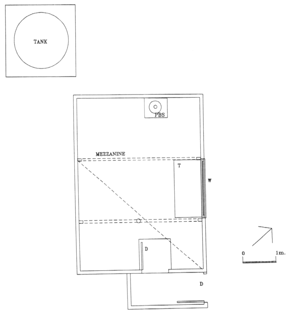 Plan of the original Federation Hut. From:  Victorian alpine huts heritage survey , 1996. p 102