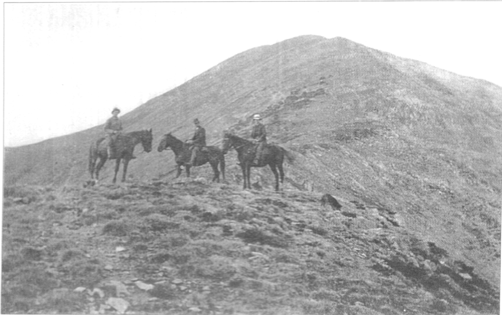 Lawler family cattlemen on Feathertop, probably early 1930s.