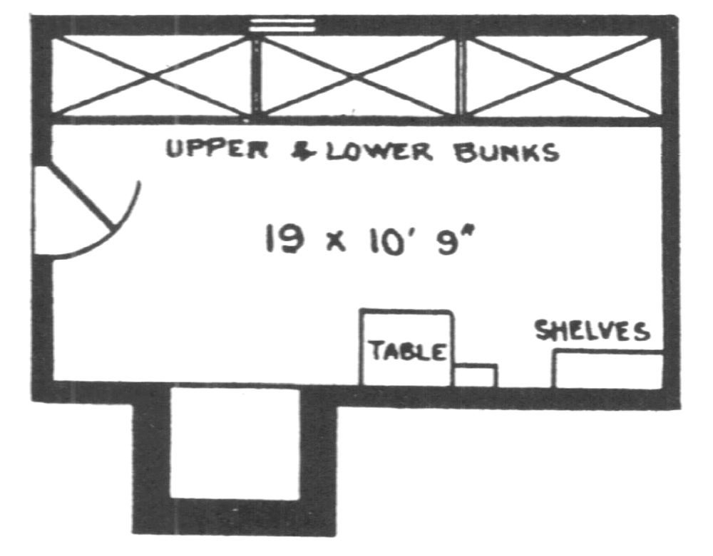Roy Weston and Cleve Cole's circa 1934 plan of Feathertop Hut.