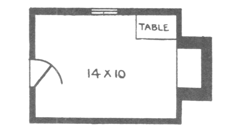 The very simple layout of Razorback Hut. Drawn by Roy Weston and Cleve Cole c.1934.