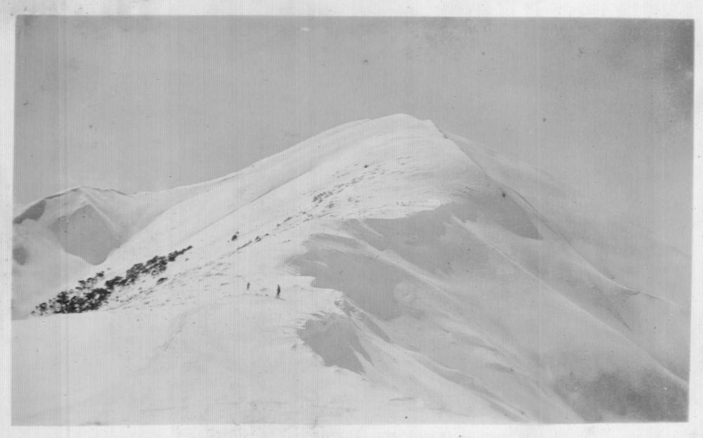 Feathertop summit August 1934. Photo K Magill.