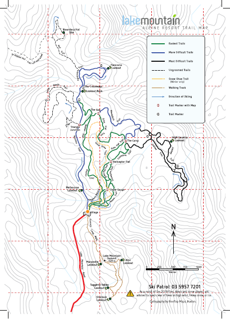 2015  cross country ski trail map.
