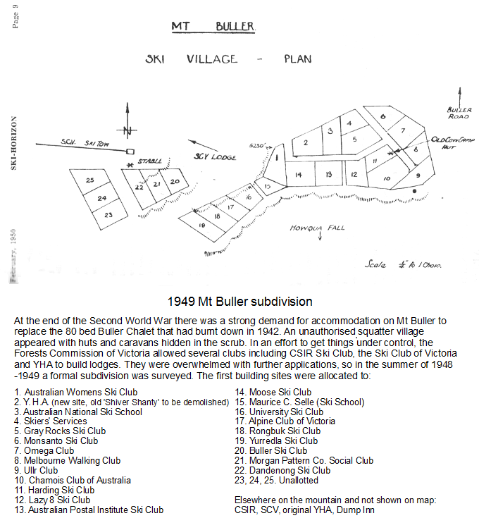 1949   Village subdivision