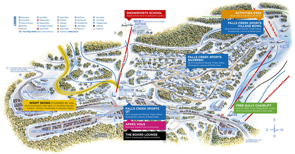 Circa 2015. Village map.