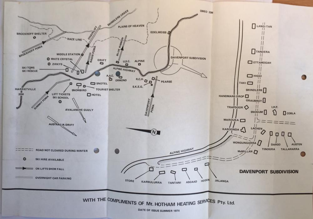 1974 village map