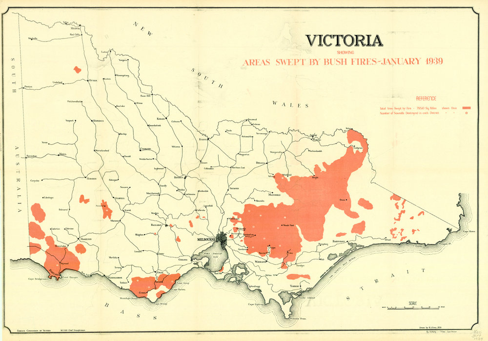 Over 20,000 square km of forest were burnt in the  Black Friday  fires of January 1939