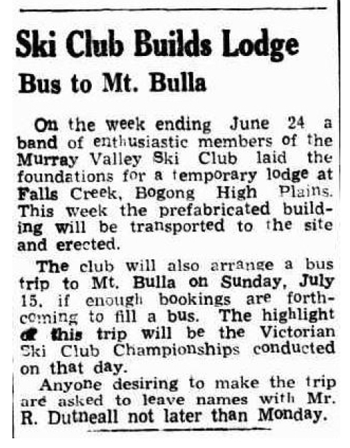 Ski Club Builds Lodge, Cobram Courier 5 July 1951 (1).jpg