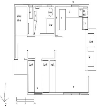 Floor plan from the Butler report 2005.