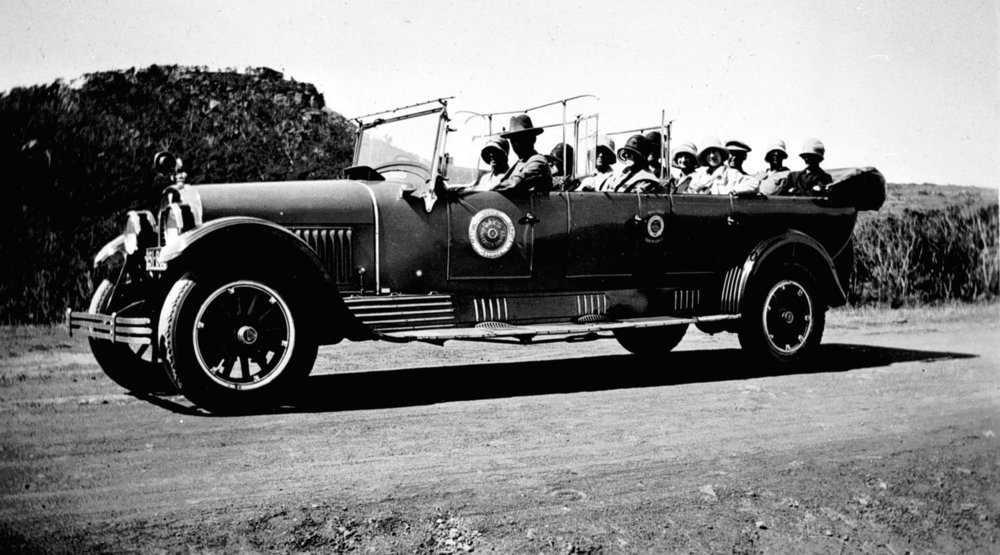 A 1920s style charabanc. Source  Museums Victoria .