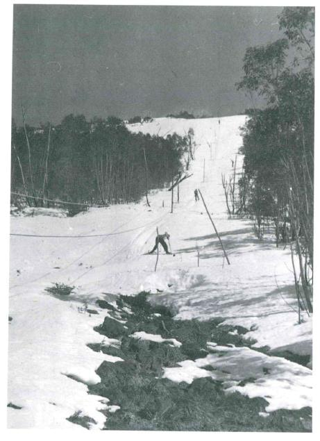 Blue Ribbon not long after it was built. From Lynette Sheridan. University Ski Club 1929 - 1979. p. 108