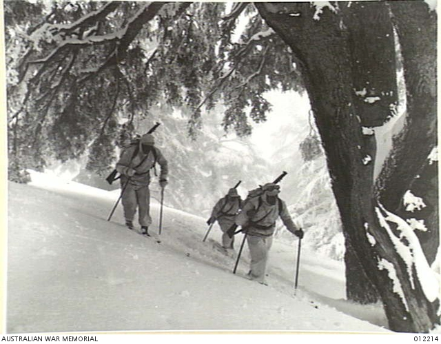 Australian ski troops on patrol in Lebanon, 1941.  Australian War Memorial .