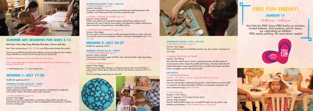 FAM Summer Classes Brochure_2017