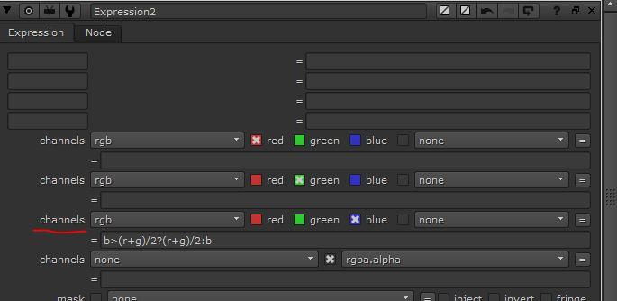 para fondos azules en el canal azul (b)