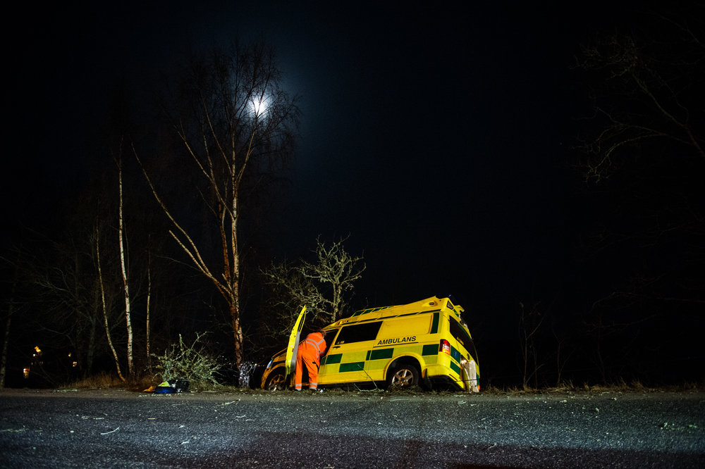 20140214 StockholmNYH - Ambulans avkörningFoto: Alexander Donka ScanpixCode: 7148