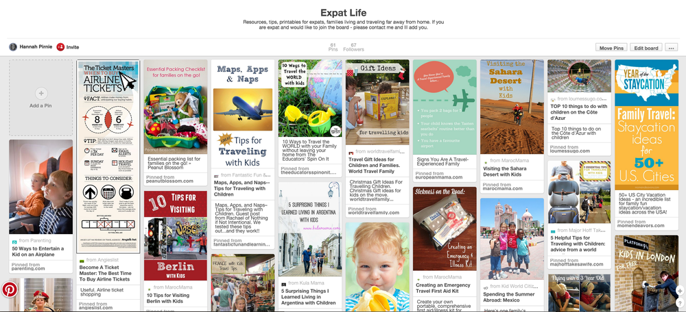 Expat Life - Come share your tips on flying, saying goodbye and moving with us over on pinterest.
