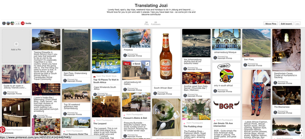 Translating Jozi - Come share the things you love (or not) so we can all create our own Jozi Bucket List