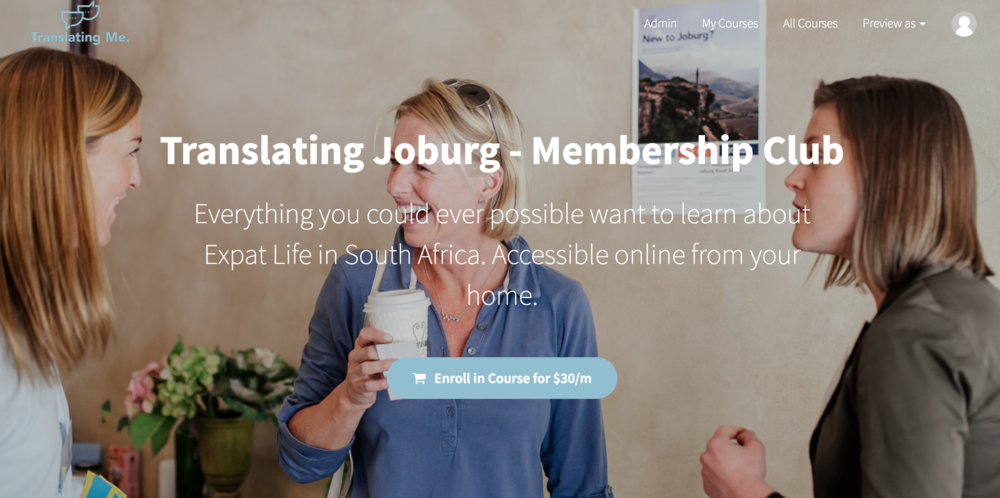 Expat in Johannesburg