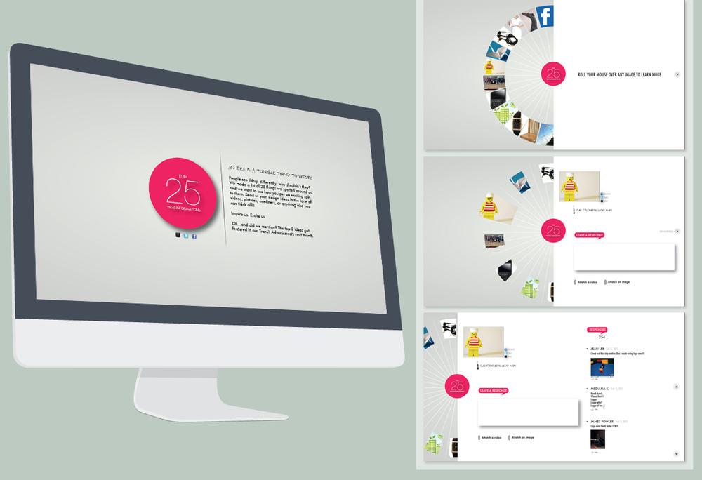 Conceptual website layout