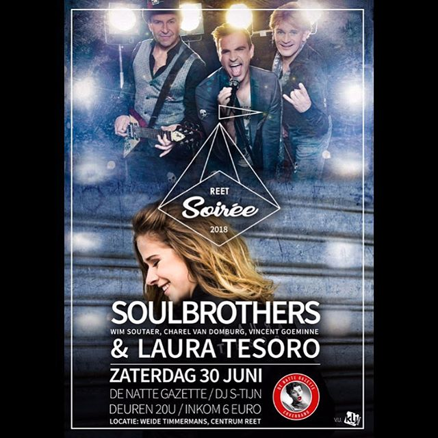 Soulbrothers @ Soirée 2018 (30/06) Be there or be square!! #Soulbrothers #Soiree2018 #Festival