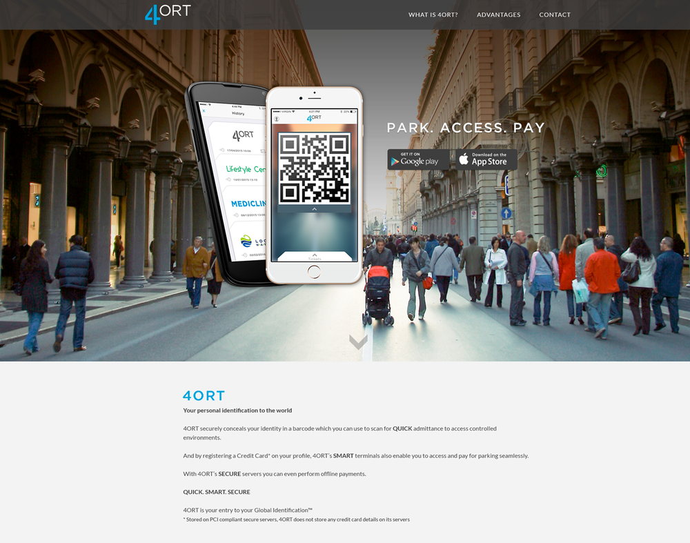 4ORT mobile app website