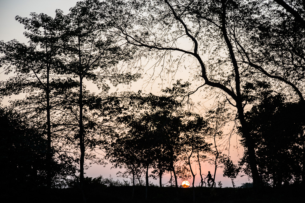Sunset on Majuli Island, Assam