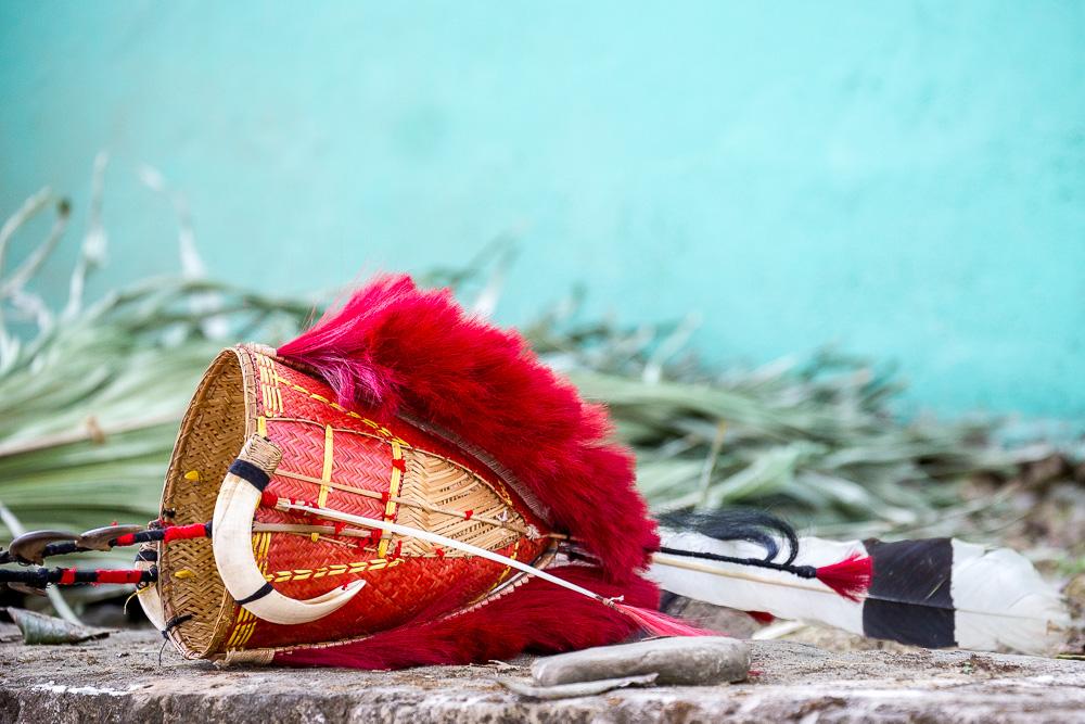Yimchungru tribe headgear, Hornbill Festival, Nagaland
