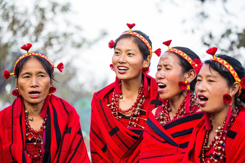 Women from the Pochury tribe, Hornbill Festival, Nagaland