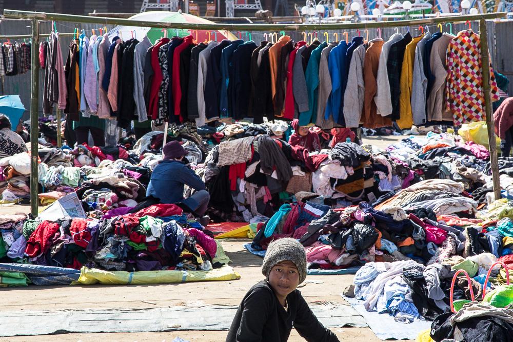 Clothing market, Kohima, Nagaland