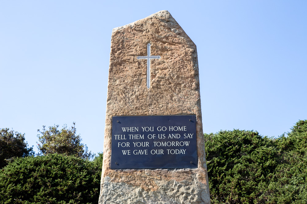Memorial to the fallen at the battle of Kohima, Nagaland - one of the decisive battles in World War 2