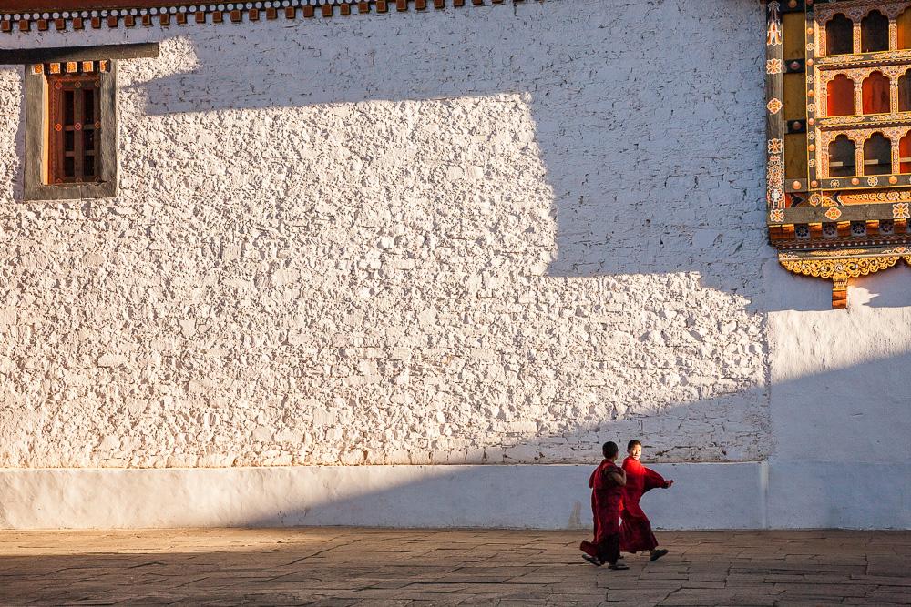 Novice monks, Bhutan