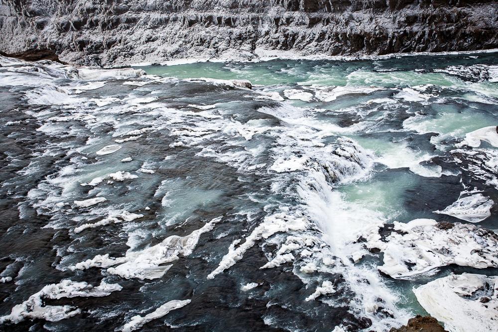 Hvítá River above Gullfoss, Iceland