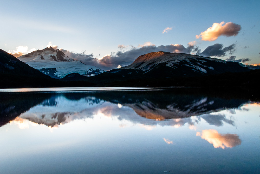 Mount Tronador from Laguna Ilon, Argentina