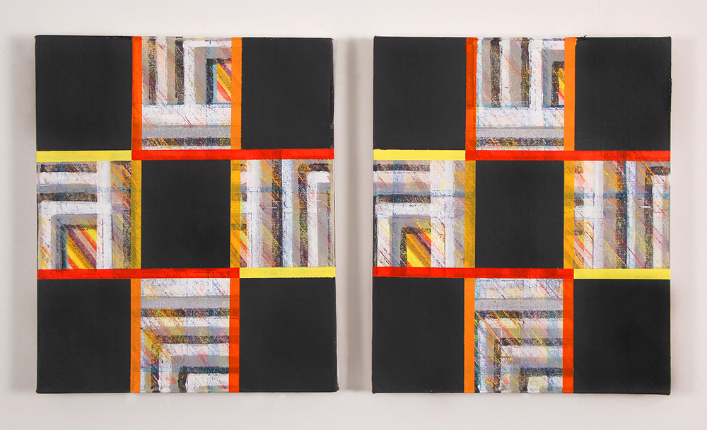 Untitled  (diptych), 2015 Acrylic on canvas 18 x 15 inches each