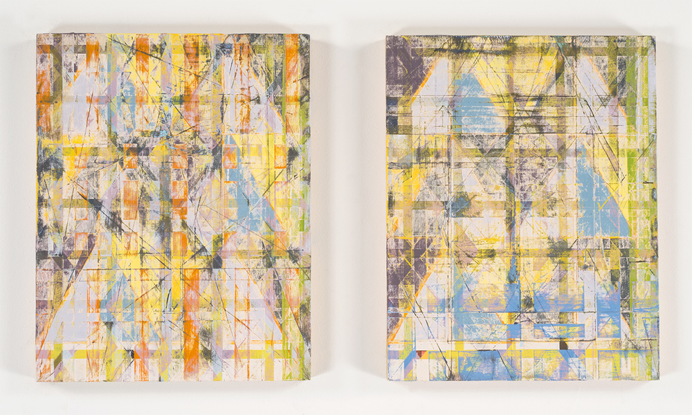 I Am You, You Are Me  (diptych), 2014-15 Acrylic on birch panels 14 x 11 inches each