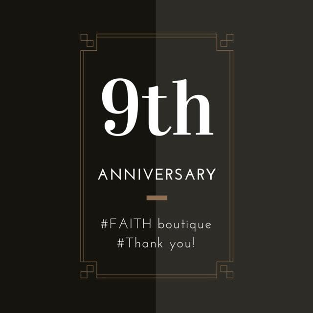 9th anniversary !!! | Dai kyū-shūnen|  田市 | コモスクエア |コモスクエア Faith | コモスクエア フェースフ | フェースラブズホリウッド | Faith Loves Hollywood | Como Square | Toyota city