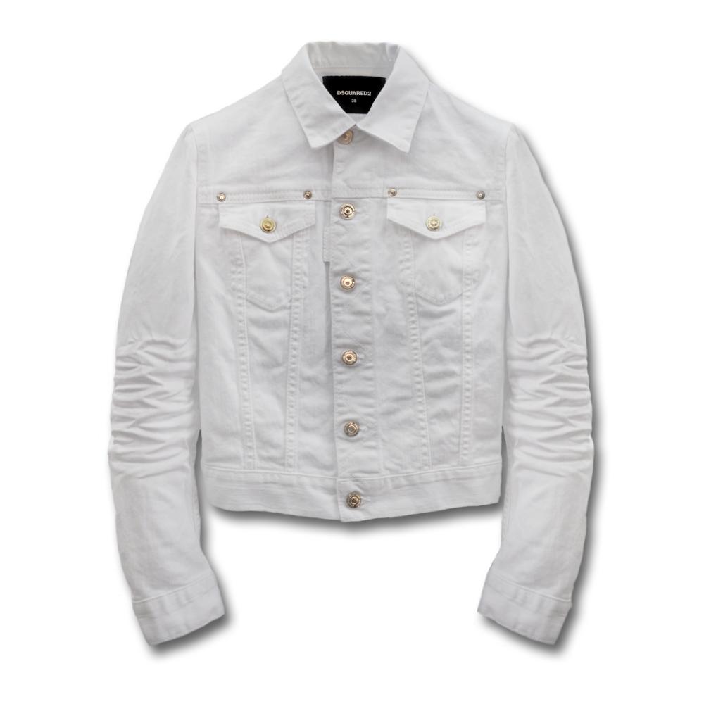 DSQUARED2のデニムとホワイトのデニムジャケット
