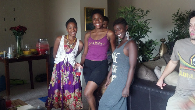 Our lovely host - Ashley Pharr, Cherae Mabry - our yoga instructor for the afternoon, and Oshun Love