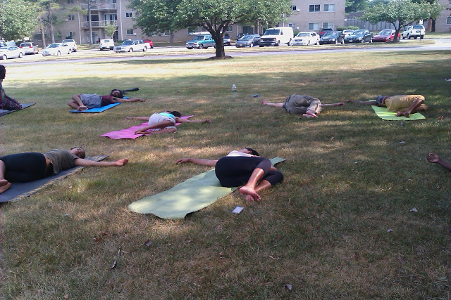Preparing for Savasana