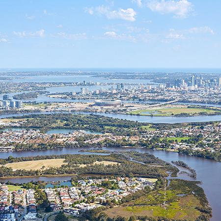 Project: Perth Stadium Location: Perth / Australia Coverage: Aerial Under Construction