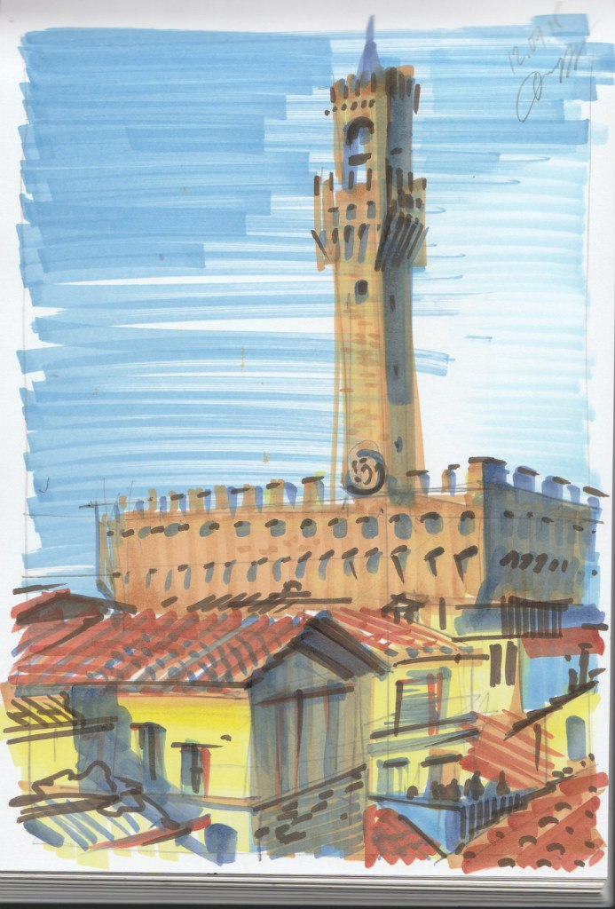 Флоренция Палаццо Веккио рисунок
