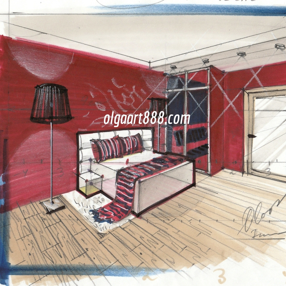 Interior Sketching With Markers For Beginners Ecourses Book