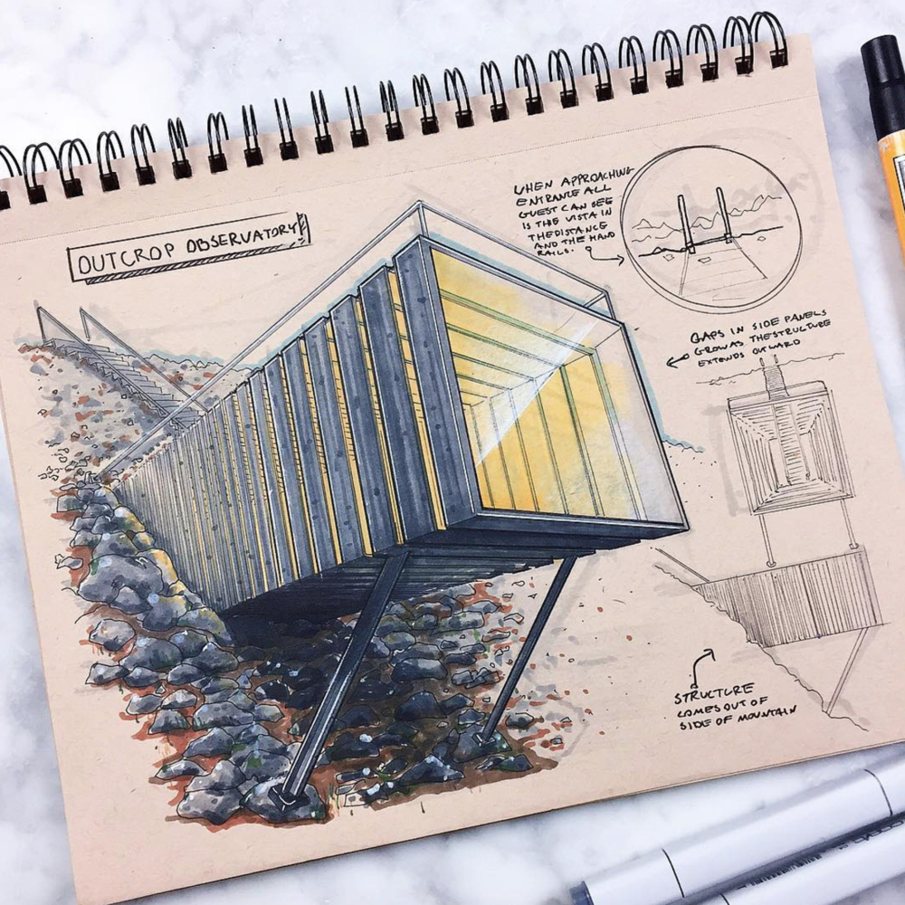 Industrial design drawing Reid Schlegel