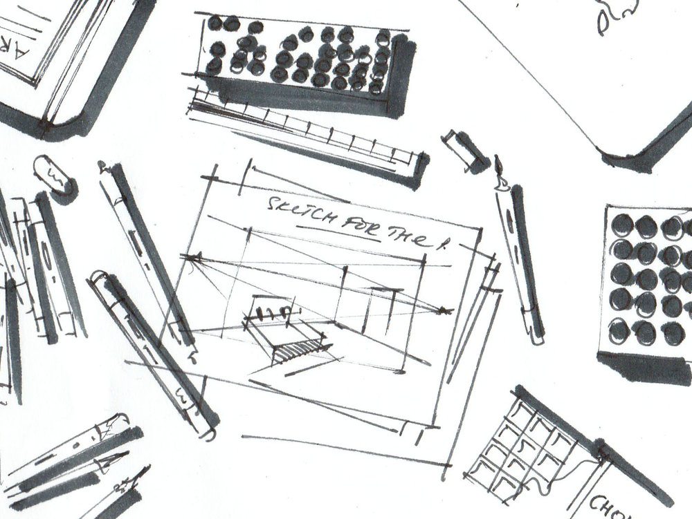 materials for interior sketching