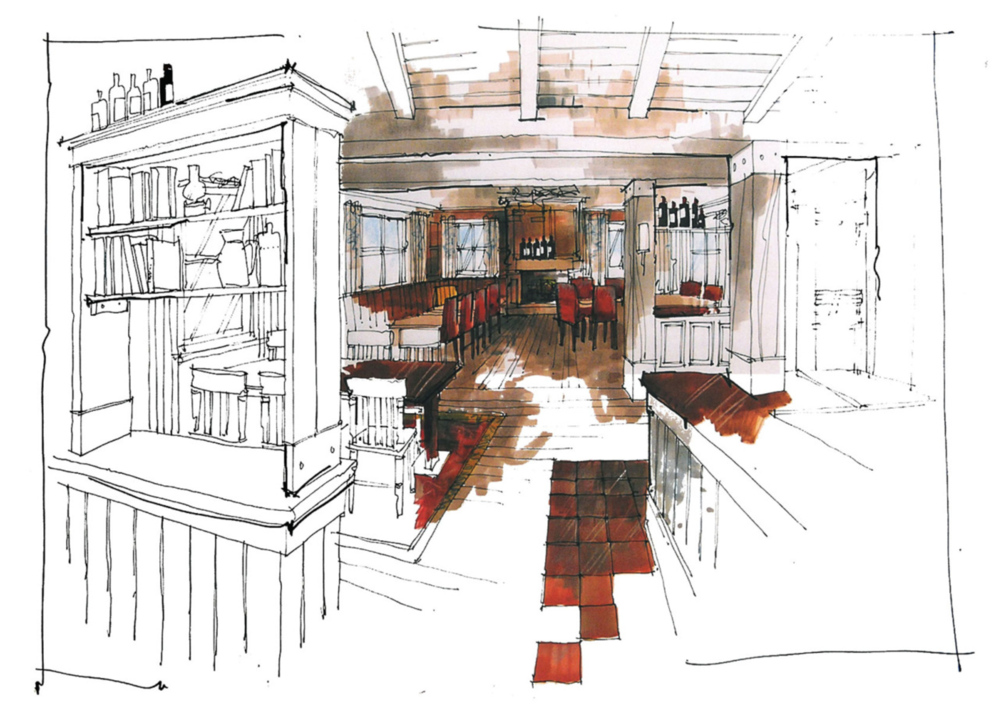 Richard Chadwick interior sketch