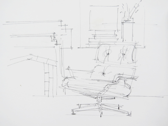 интерьерный скетч кресло